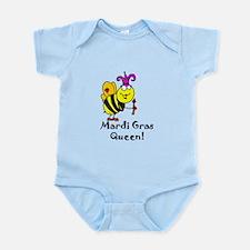 Mardi GRAS Queen Infant Bodysuit