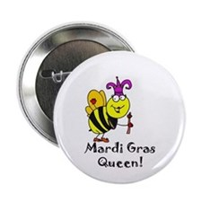 "Mardi GRAS Queen 2.25"" Button"