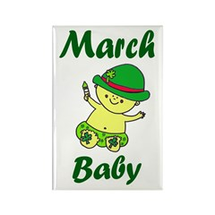 March Baby Rectangle Magnet