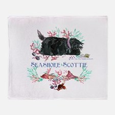 Seashore Scottie Island Dog Throw Blanket