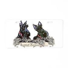 Lilac Scottish Terriers Aluminum License Plate