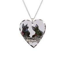 Lilac Scottish Terriers Necklace