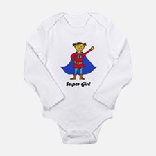 Super Girl Long Sleeve Infant Bodysuit
