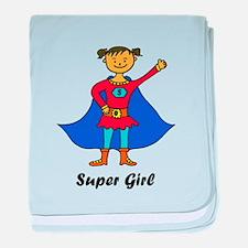 Super Girl baby blanket
