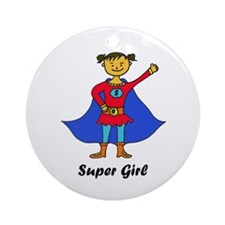Super Girl Ornament (Round)