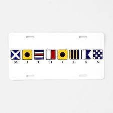 Nautical Michigan Aluminum License Plate