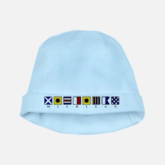 Nautical Michigan baby hat