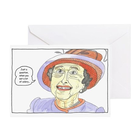 Do your bowels act up? Greeting Card