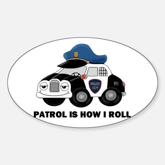 POLICE CAR Sticker (Oval)