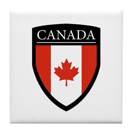 Canada Flag Patch Tile Coaster