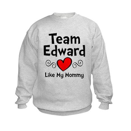 Heart Red Ed Mom Kids Sweatshirt