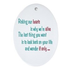 Castle: Risking Our Hearts Ornament (Oval)