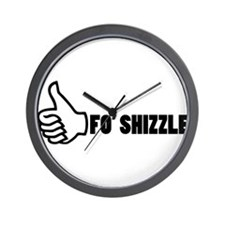 Fo'Shizzle Thomb Up Wall Clock