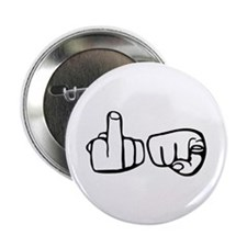 "Fu Hands Finger Point 2.25"" Button (10 pack)"
