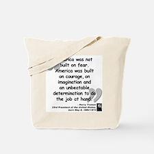 Truman Courage Tote Bag