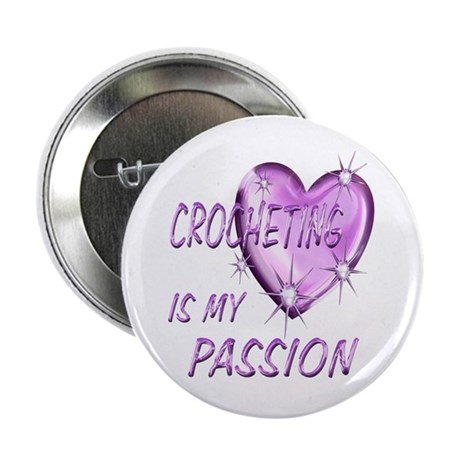 """Crocheting Passion 2.25"""" Button (10 pack)"""