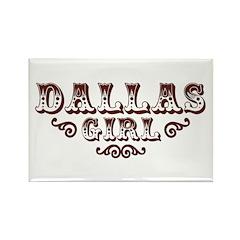 Dallas Girl Rectangle Magnet