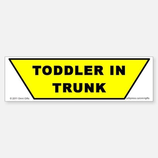 Toddler in Trunk bumper sticker