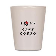 I *heart* My Cane Corso Shot Glass