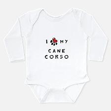 I *heart* My Cane Corso Long Sleeve Infant Bodysui