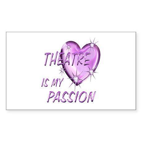 Theatre Passion Sticker (Rectangle)