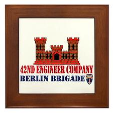 42nd Engineer Company Framed Tile