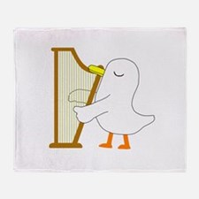Harpist Throw Blanket
