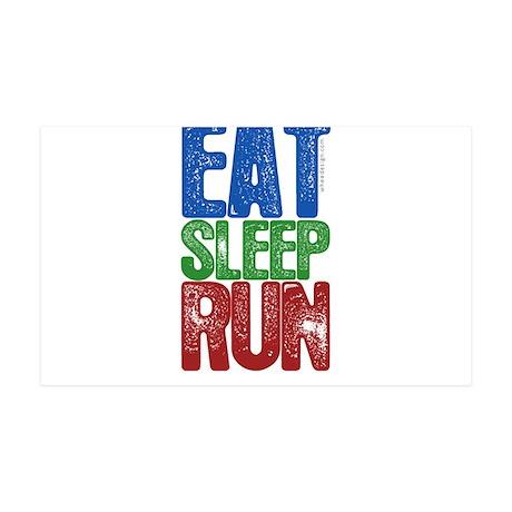 EAT SLEEP RUN 38.5 x 24.5 Wall Peel