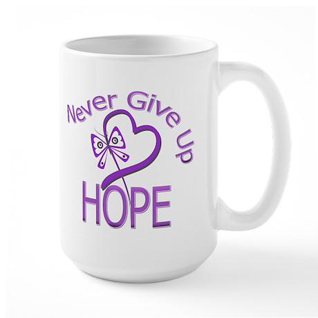 Epilepsy Never Give Up Hope Large Mug