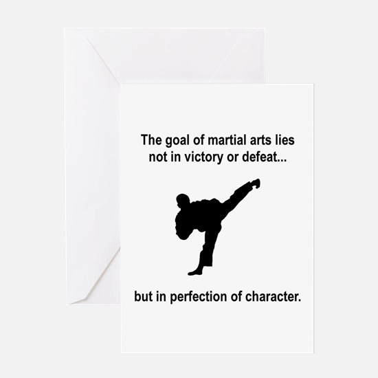 Martial Art Character Greeting Card