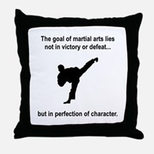 Martial Art Character Throw Pillow