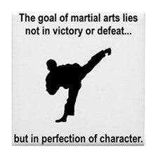 Martial Art Character Tile Coaster