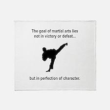 Martial Art Character Throw Blanket