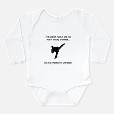 Martial Art Character Long Sleeve Infant Bodysuit
