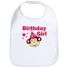 Birthday Girl Monkey Bib