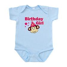 Birthday Girl Monkey Infant Bodysuit