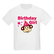 Birthday Girl Monkey T-Shirt