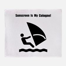 Windsurf Sunscreen Throw Blanket