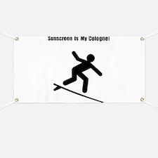 Surfing Sunscreen Banner