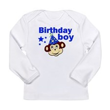 Birthday boy monkey Long Sleeve Infant T-Shirt