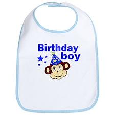 Birthday boy monkey Bib