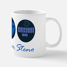 PEACE LOVE STENO Mug