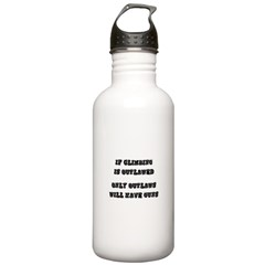 If Climbing Is Outlawed Water Bottle