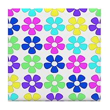 Cute Flowerpower Tile Coaster