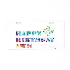Multi-colour Mum Aluminum License Plate