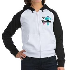 Thyroid Cancer Survivor Women's Raglan Hoodie