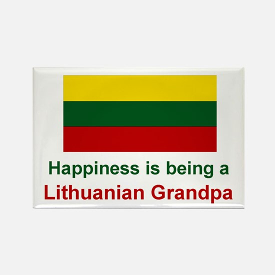 "Lithuanian Grandpa Magnet (3""x2"")"