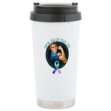 We Can Do It Thyroid Cancer Travel Mug