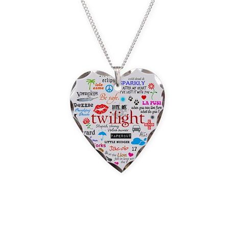 Twilight Memories Necklace Heart Charm