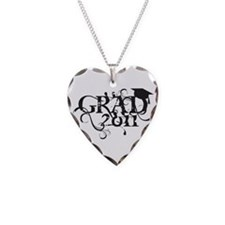 Fancy Grad 2011 Necklace Heart Charm